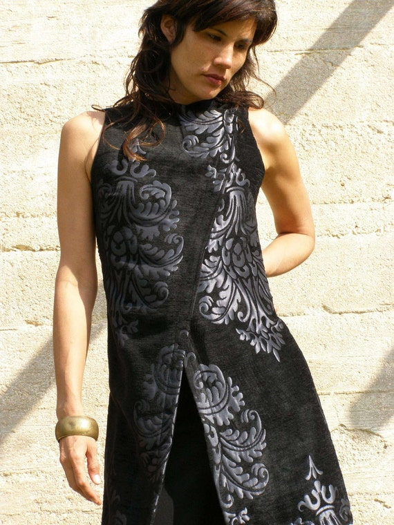 957d6a2f248 Black And Silver Dress Summer Tunic Tops Plus Size Special