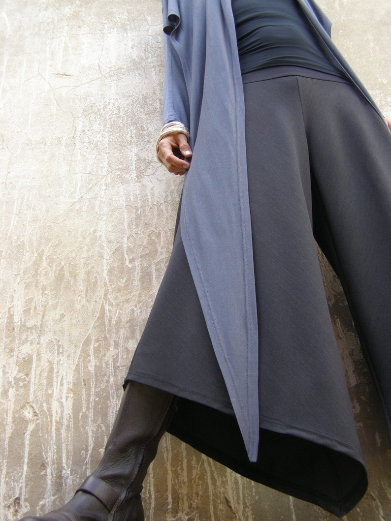 Triangular women's pants palazzo pants-Wide leg image 1