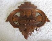 Wood Salvage Molding Carved Piece Large Vintage