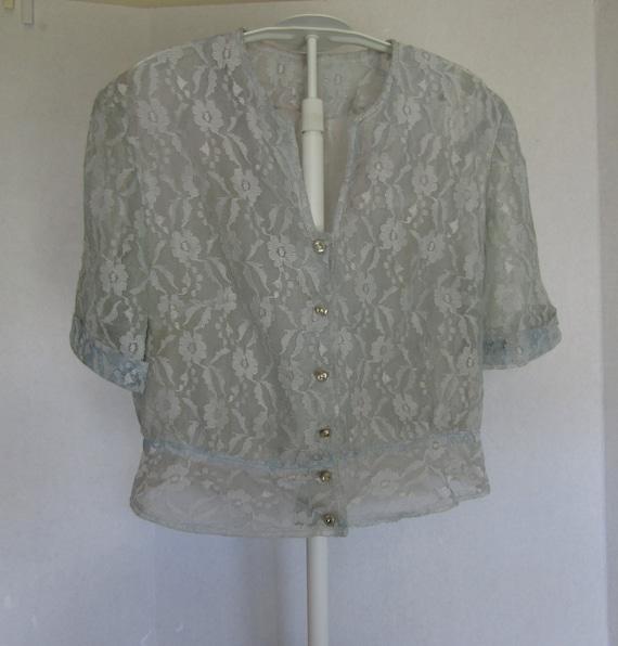 Lace Bolero Jacket Vintage Item