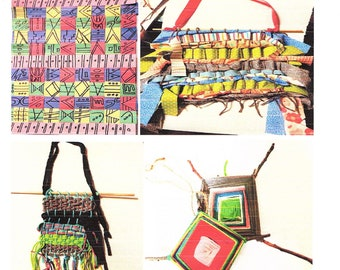 PDF How To Easy Weaving Bundle for Beginners Paper Fabric Yarn Sticks Pre-K to 6th Grade