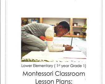 Lower Elementary Montessori DAILY Lesson Plan September Grade 1  four weeks of curriculum Guide AMS Homeschool