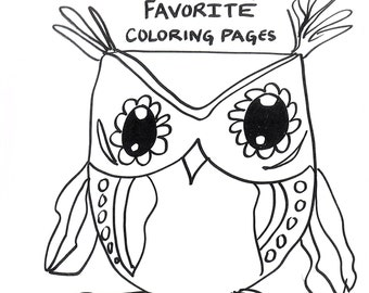 PDF OWLS Coloring Pages Owls My Favorite 40 Owls to Color Meditation Practice Color Book Peaceful Activities Quiet Time
