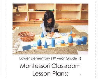Lower Elementary Montessori DAILY Lesson Plan October Grade 1  four weeks of curriculum Guide AMS Homeschool