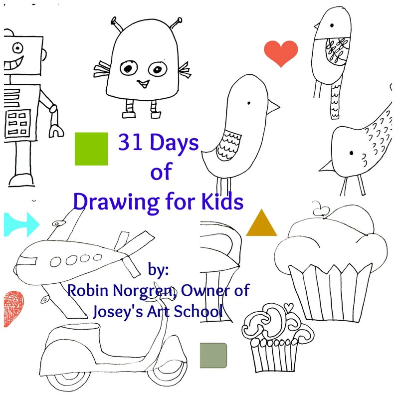 31 Days Of Drawing For Kids Fun And Whimsical Ways To Draw Etsy