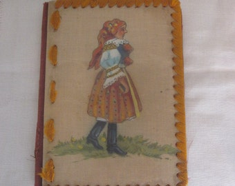 Vintage Hand Bound and Painted Childs Journal