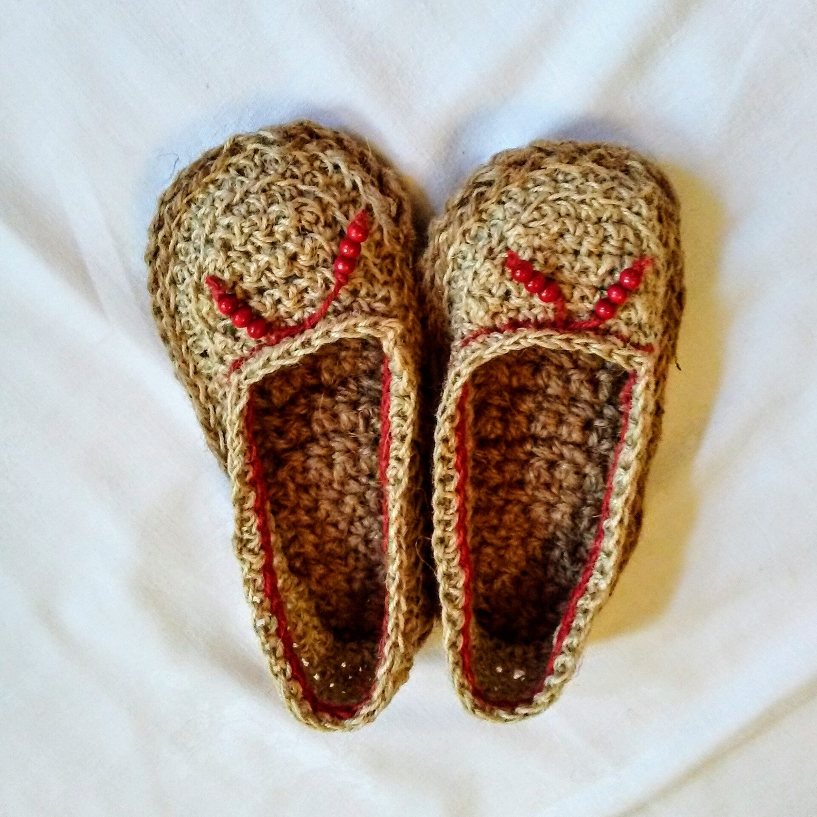 handmade espadrille ballet style with crocheted jute