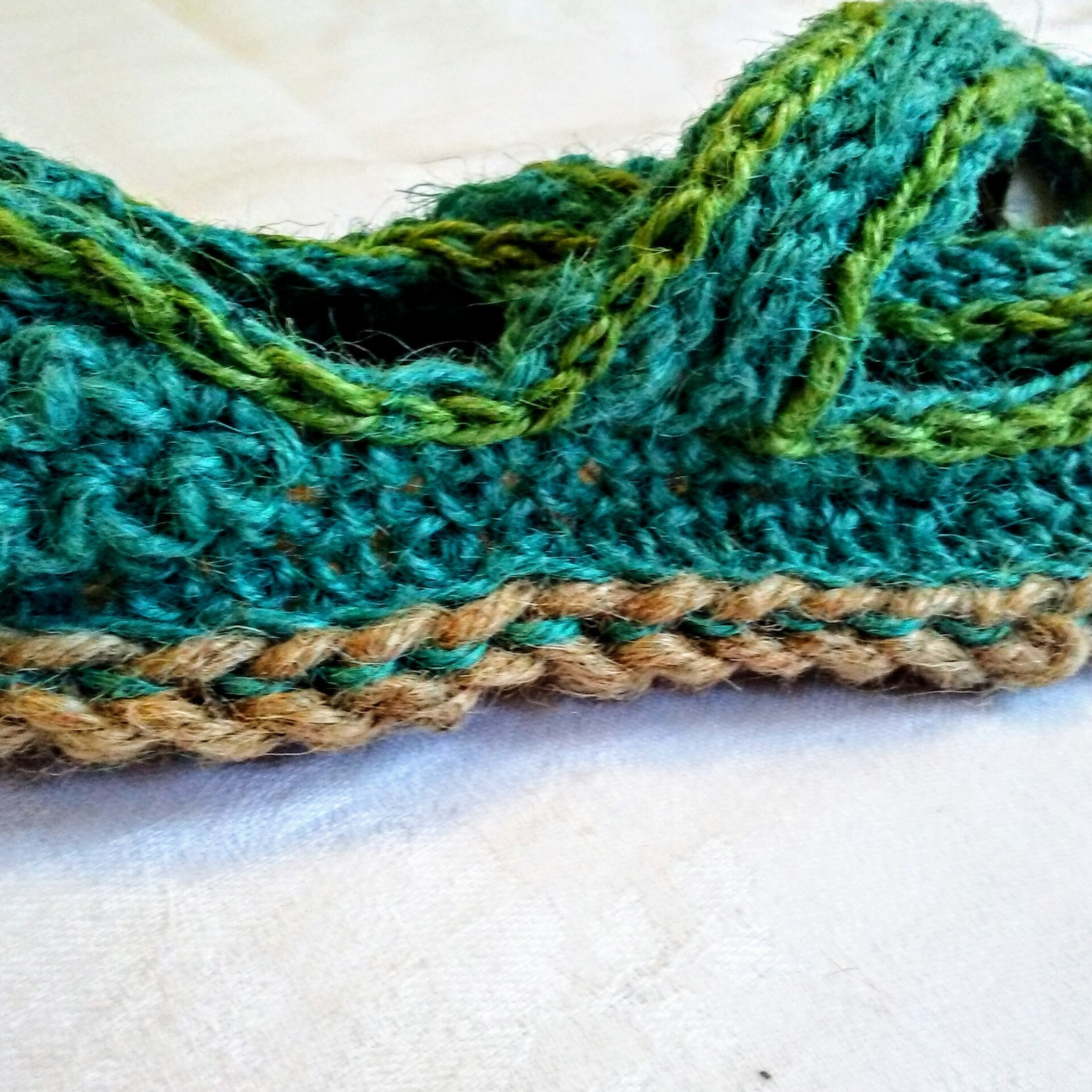handmade espadrille ballet, laceups and crossovers with colored jute