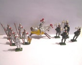 Vintage Mid Century 10 pc Lot of Lead Toy Knights Soldiers Made in England