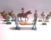 Vintage Mid Century 12 pc Lot of Lead Toy French Guard Soldiers Made in England