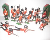 Vintage Mid Century 18 pc Lot of Lead Toy British Soldiers Made in England