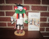 Vintage 1970s Hopi Native American Indian Kachina Doll with Book from Flagstaff Museum