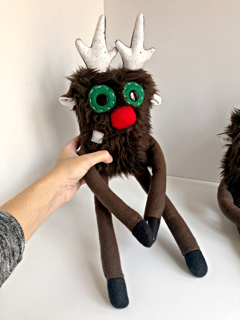 Plush Rudolph  Plush Reindeer  Rudolph the Red Nose Reindeer image 0