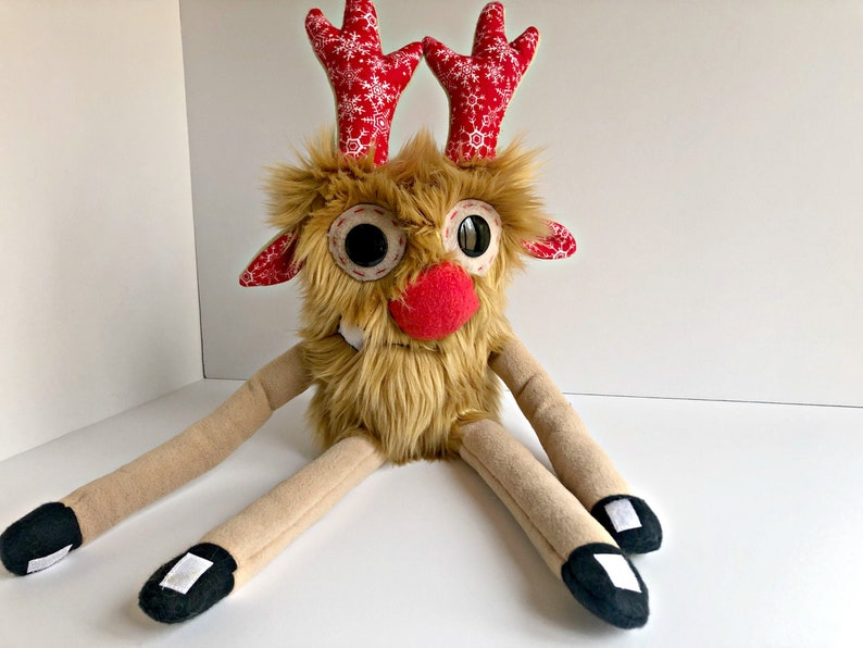 Big Plush Rudolph  Plush Reindeer  Rudolph the Red Nose image 0