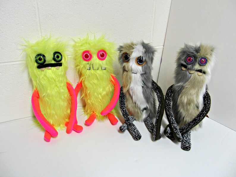 Tall and Skinny Monster  Weird Plush Monster Toy  Hand image 0