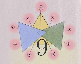 Numerology Life Path #9 Print