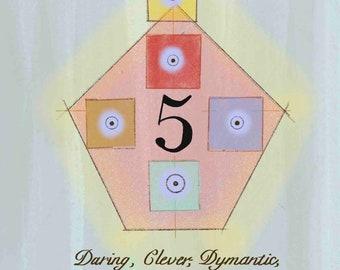 Numerology Life Path #5 Print