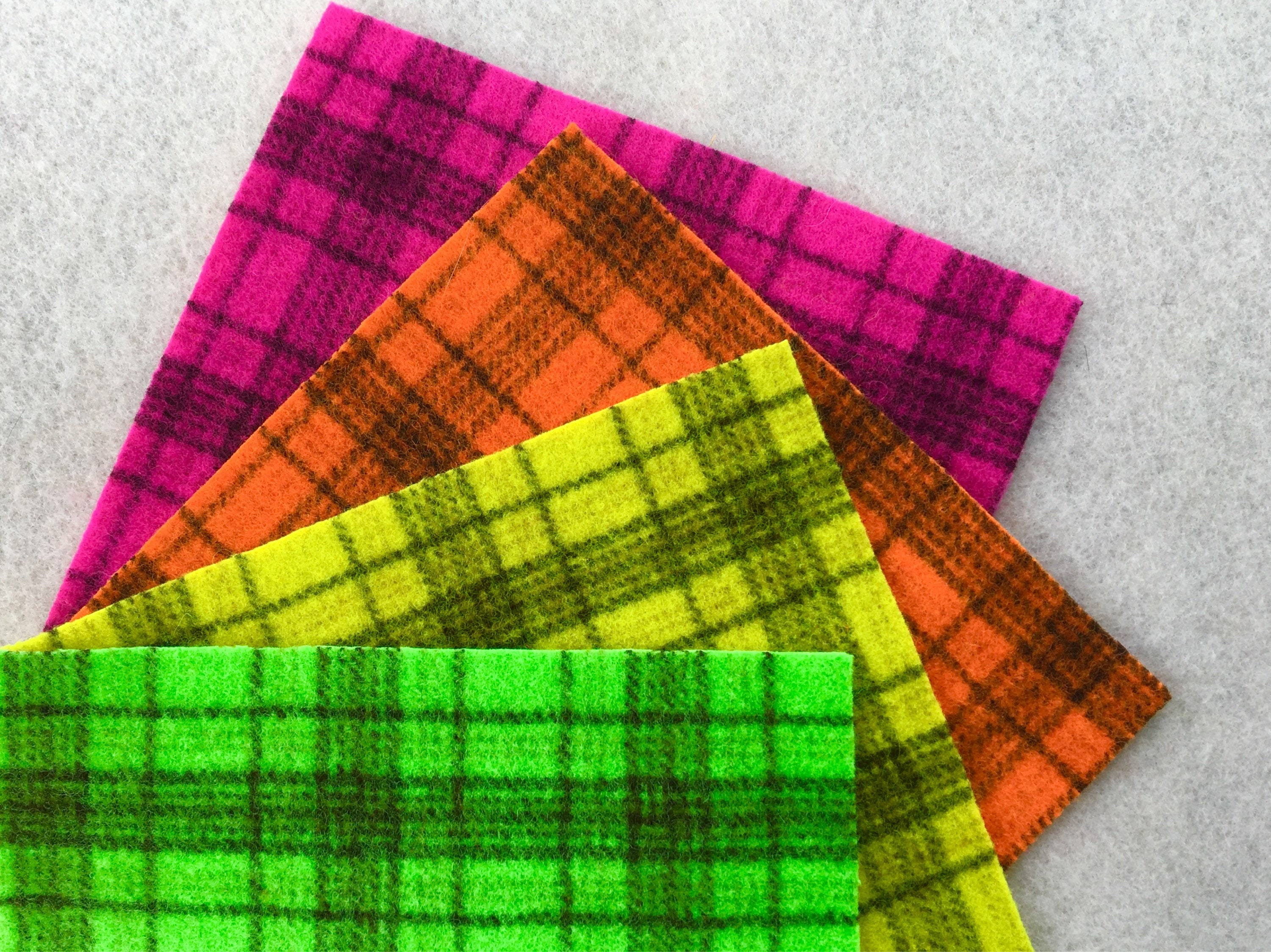 Hand dyed wool felt neon applique pack pieces of hand etsy