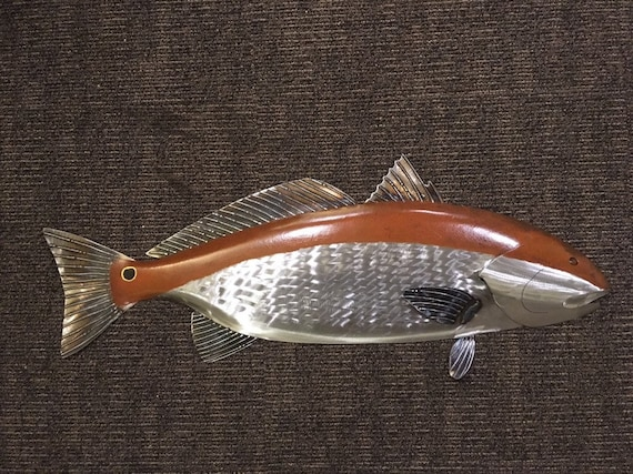 Redfish 35in  Metal Wall Art  Sculpture  Shipping Free in the US