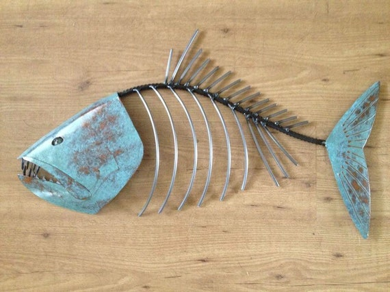 Fish Sculpture 24in Metal Wall Art  FREE SHIPPING in the US