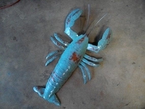 Lobster 26in Metal Wall Sculpture SHIPPING FREE in the US