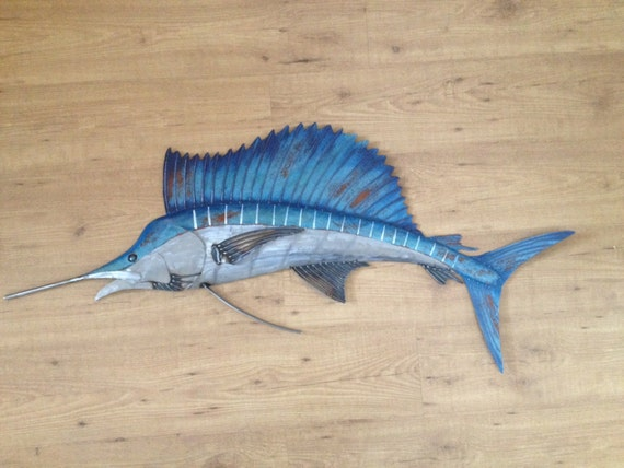 Sailfish Metal 48in Wall Art Fish sculpture SHIPPING FREE in the US
