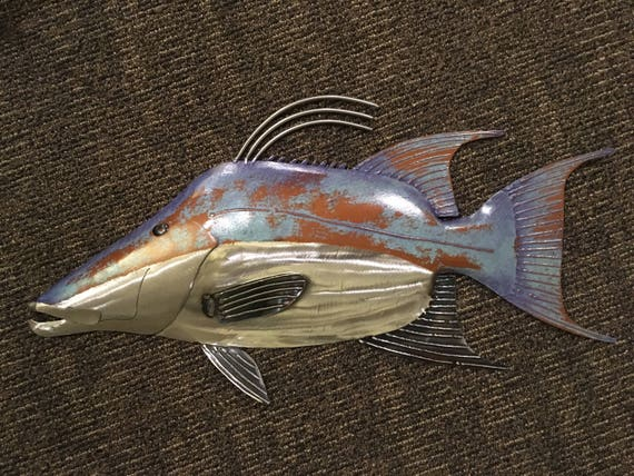 Hogfish 25in Metal Wall Art  FREE SHIPPING in the US
