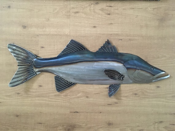 Snook 30in Metal Fish Wall sculpture FREE SHIPPING in the US