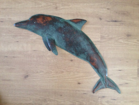 Dolphin 30in Metal Metal Wall sculpture  SHIPPING FREE in the US