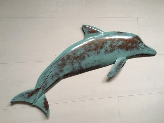 Dolphin 30in Metal Art Wall sculpture  SHIPPING FREE in the US