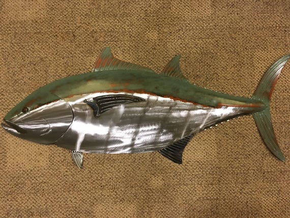 Blue Fin Tuna 35in Metal Wall Sculpture  FREE SHIPPING in the US