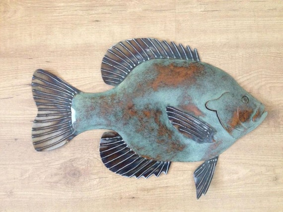 Bluegille Sunfish 20in metal Wall Art  FREE SHIPPING in the US