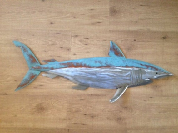 Shark 35in Metal Fish Wall Art sculpture  FREE SHIPPING in the US