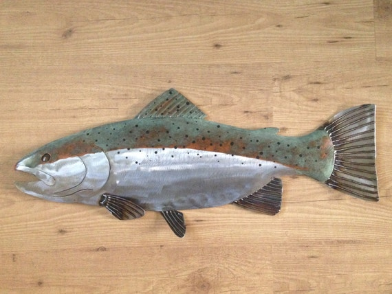 Trout Metal 30in Fish Art Wall Sculpture FREE SHIPPING in the US