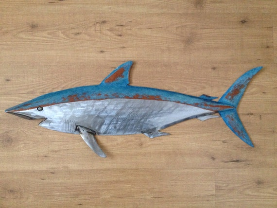 Shark 35in Metal Fish Wall sculpture  FREE SHIPPING in the US