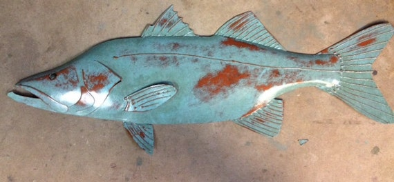 Snook Metal 30in Fish Wall sculpture  SHIPPING FREE in the US