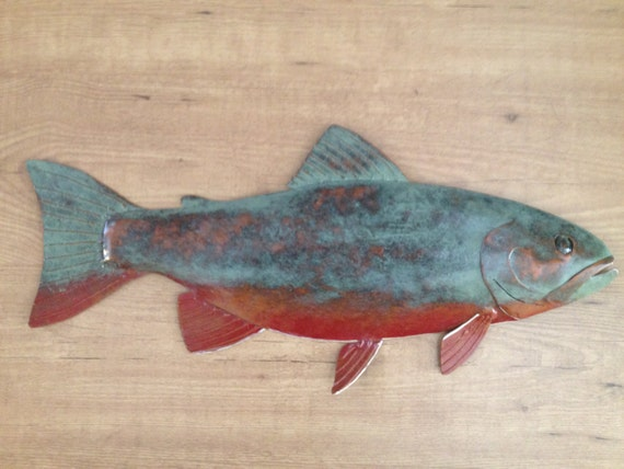 Brook Trout  Metal Wall Art  FREE SHIPPING in the US