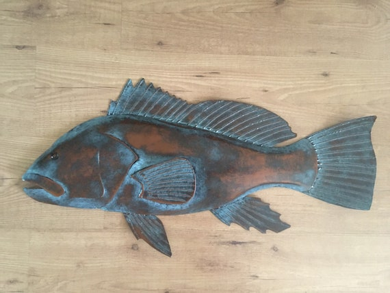 Black Sea Bass 30in Wall Art  SHIPPING FREE in the US