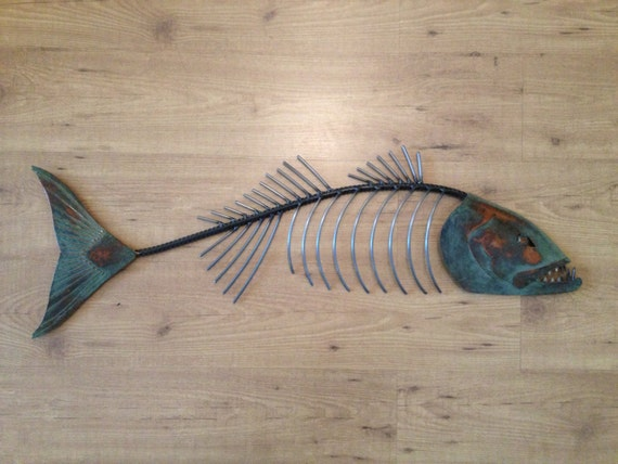 Chops 35in Metal Fish Sculpture  SHIPPING FREE in the US