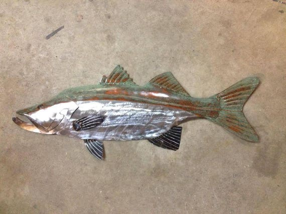 Snook 30in Metal Fish Art FREE SHIPPING in the US