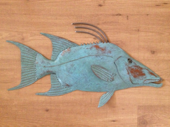 Hogfish 25in Metal Wall Art   SHIPPING FREE in the US