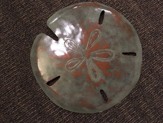 Sand Dollar Metal Sculpture 16in  FREE SHIPPING in the US