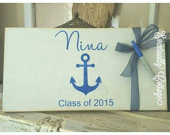 Personalized Graduation Autograph Board