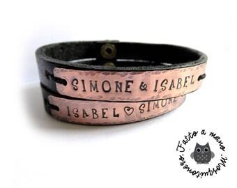 Pair bracelets, engraving bracelet, customizable, engraved names, custom bracelet, engraved bracelet