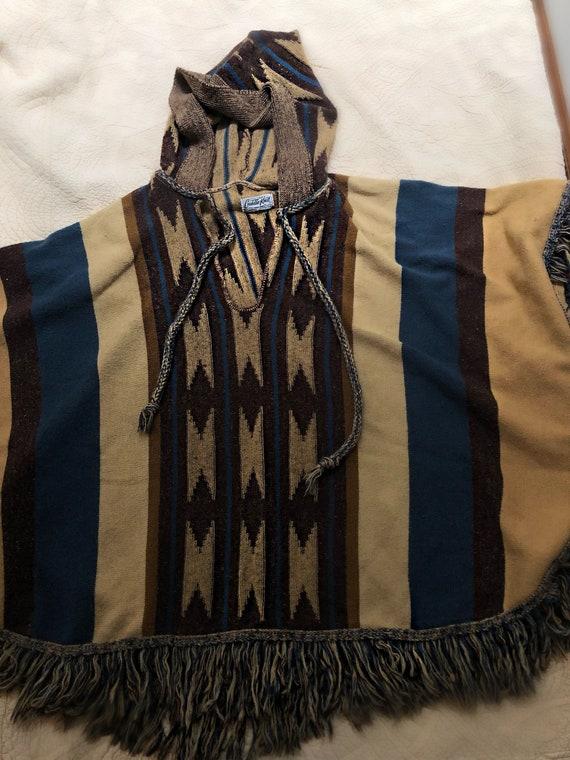 1970s Knit Poncho