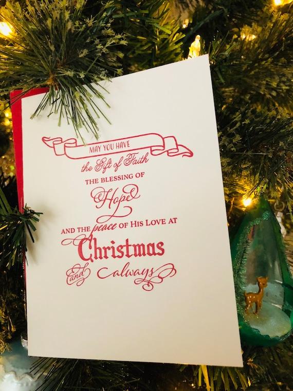 Beautiful Religious Christmas Cards.Religious Christmas Cards Letterpress Christmas Cards
