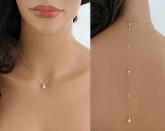 3a2a25eed7ed Dainty Back necklace
