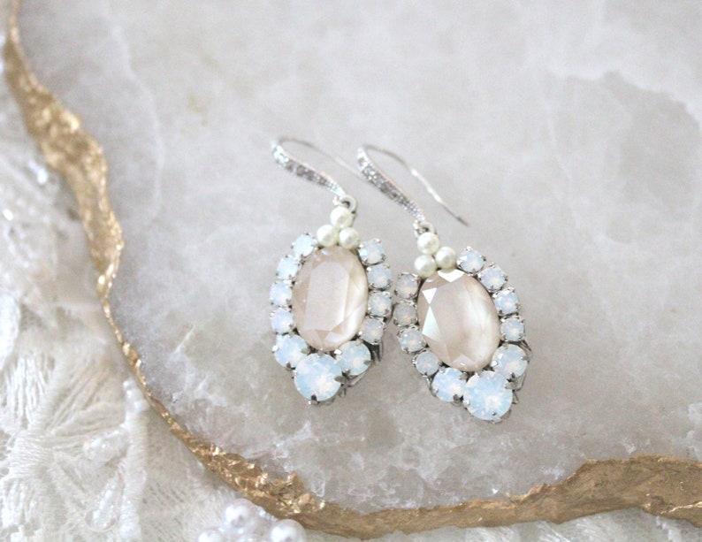 9bb7470c96c2b8 Crystal Bridal earrings Bridal jewelry Crystal Drop earrings   Etsy