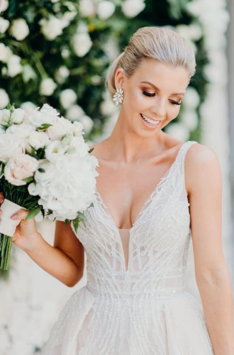 f3c7faa8e Crystal Bridal earrings Wedding earrings Bridal jewelry   Etsy