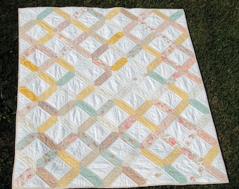 Lap quilt featuring Paris Flea Market fabric by Moda